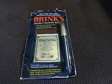 Vintage Brink's Security Marking System Pen 1974 Sanford