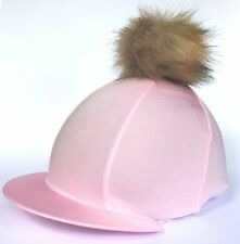 GGGear Cross Country Hat Silk, Baby Pink with Faux Fur Pom pom