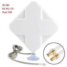 35dBi Dual TS-9 LTE 3G 4G Modem Router Antenna Telstra 760s,785s,790s w/3M Cable