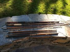 """Awesome Hickory Saltwater 7'6"""" Fishing Rod With Xtra Bamboo & Hickory Rod Parts."""