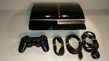 1352 Sony Playstation 3 80GB Piano Black Console CECHL04 + accessories PS3