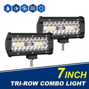 "2PCS 6""/ 7Inch 1200W LED Light Bar Spot Flood Offroad For JEEP FORD SUV 4WD Fog"