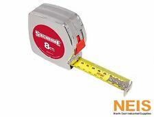 Sidchrome Tape Measure 8M x 25mm Mylar Coated Tape Rule Chrome Plated SCMT26134