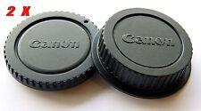 2X Canon Camera Body Cover + Lens Rear Cap for Canon 60D 5D4 600D 5D3 700D T5 T6