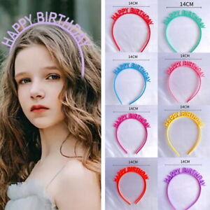Happy Birthday Women's Lady Girl Headband Knot Fashion Headbands Hairband Band*
