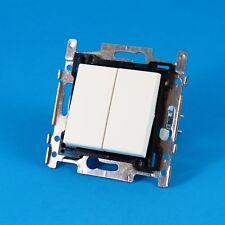 interrupteur NIKO double poussoir ouvert ou normalement fermé white  , 101-65000