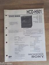 Schema SONY - Service Manual Compact Disc Deck System HCD-H501 HCDH501