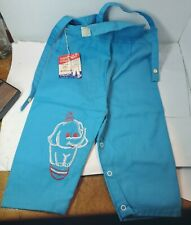 Nwt Vintage Kidstuff 1960s 1970s Toddler Overalls Embroidered Elephant (Bin#129)