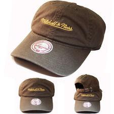 2cf9f1c2506 Mitchell   Ness Brand Vintage Olive Green Dad Daddy Strapback Hat