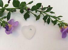 Swarovski #6221 1 Colgante corazón cristal blanco Matt 16x15.5mm manualidades
