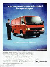PUBLICITE ADVERTISING 115  1989  Le Mecedes-Benz  MB 100D