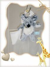 W - Doudou Peluche Souris Mouchoir Gris Beige Collection Les Flocons Baby Nat