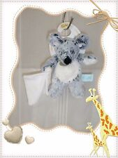 ☻ - Doudou Peluche Souris Mouchoir Gris Beige Collection Les Flocons Baby Nat