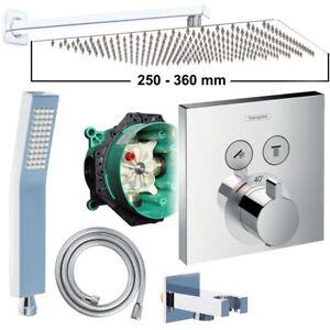 Hansgrohe ShowerSelect Unterputz Duscharmatur Regendusche Kopfbrause 250-360mm