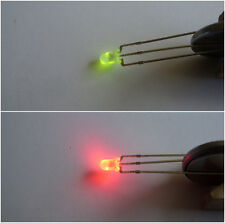 Dual LEDs RED / GREEN  X 10  common anode inc. resistors