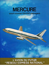 PUBLICITE ADVERTISING 064  1971  AVIONS MARCEL DASSAULT  LE MERCURE