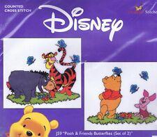 Pooh & Friends Butterflies Cross Stitch Kit Set Of 2  J59  Designer Stitches