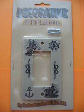 DECORATIVE NAUTICAL SHIP/ROPE SWITCHPLATE COVER FOR SINGLE ROCKER SWITCH