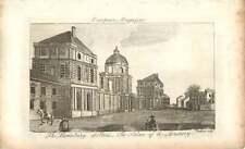 1797 Luxemburgo en París Palacio del directorio Antiguo Grabado