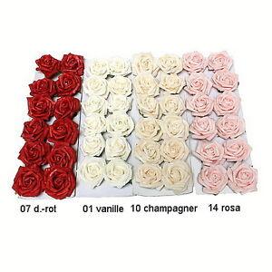 Rosenblüten, Rosenköpfe, Foam- Schaum- Rosen, 5cm/ 12 Stück div. Farben !!!