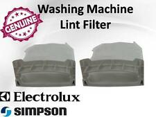 GENUINE SIMPSON ELECTROLUX WASHING MACHINE LINT FILTER PACK OF 2 # 119275000