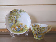 "Shelley ""Daffodil Time"" Demitassie Duo 13370 Made In England 1940 - 1966"