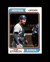 Bob Stinson Hand Signed 1974 Topps Montreal Expos Autograph