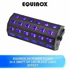 EQUINOX UV POWER FLOOD 24 X 3 WATT UV LED DJ DISCO BLACK LIGHT STROBE EFFECT DMX
