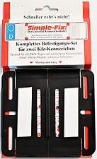 Rahmenlose Kennzeichenhalter (Simple Fix) für Österreich 120 mm