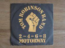 "The Tom Robinson Band 2-4-6-8 Motorway 7"" Single Punk Gay Powerpop Clash Pubrock"