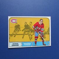 JACQUES LEMAIRE 1968-69 O-Pee-Chee # 63  OPC Montreal Canadiens 1969 68-69 NM/MT