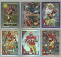 San Francisco 49ers 6 card 2010 Topps Chrome insert & REFRACTOR lot-all differnt