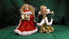 Christmas Angel carolers tree toppers figures