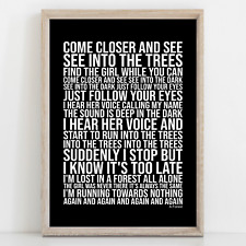 More details for cure a forest song lyrics poster print wall art