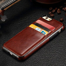 Luxury Shockproof Leather Silicone Card Holder Credit Card Case For iPhone 7
