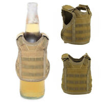 Outdoor Mini Vest Beer Water Bottle Molle Vest Pouch Holder Carrier Holster Bags