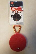 JBL Clip 2 Portable Wireless Bluetooth Speaker, Waterproof. Latest Model (Red)