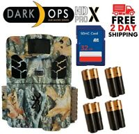 Browning 2019 Dark Ops HD Pro X  BTC-6HDPX 20MP Trail Camera 32GB SD + Batteries