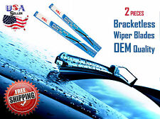 21 Amp 19 Inch Pair Bracketless Windshield Wiper Blades J Hook Oem Quality