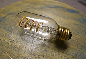 LED Edison Bulb T14, Curved Vintage Style Spiral Filament, 4watt (40w), Dimmable