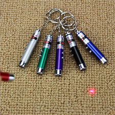 2 Pcs Random Color 2 In 1 Red Laser Pointer Pen Cute LED Light Pet Cat Toys Hot