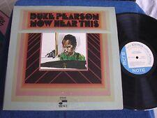 Duke Pearson Big Band/Now Hear This/1969 LP/VAN GELDER/Blue Note BST 84308/MINT-