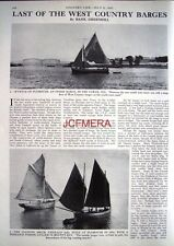 """Last of the WEST COUNTRY BARGES"" - 1965 Magazine Article (2-Sided Cutting)"
