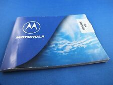 Original Motorola cd930 User Manual Instructions German Mobile Phone Book