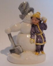 Baston Sebastian Girl w/Snowman Le Numbered And Signed 1979 We Ship Worldwide