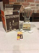 Vintage Osterizer 10 Speed Blender Model 833-06 White TESTED USA New In Box