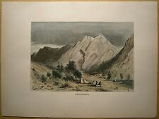 1884 print LIMESTONE FORMATION, ON PIT RIVER, NORTHERN CALIFORNIA (#84)
