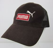 9dc8e23ed91 PUMA Brown Corduroy Trucker Dad Hat Snapback One Size Sport Baseball Cap