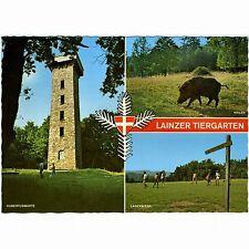 """AK """"lainzer animale da giardino"""" a Vienna con cinghiale e Hubertus attesa (animale Park, zoo)"""