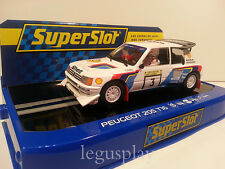 Slot SCX Scalextric Superslot H3751 Peugeot 205 T16 Rally Lagos 1985 Nº3 Salonen